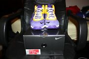 Menand039s Nike Lebron 8 Viii Qs Lakers Basketball Shoes Size 10.5 Dc8380-500