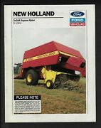 Ford New Holland 2x3x8 D1000 Square Baler 8 Page Brochure Usa