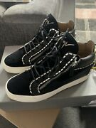 Giuseppe Zanotti Size 10 Black High Top Trainers Excellent Condition.