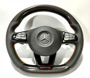Carbon Steering Wheel For Mercedes W205 C Gle Glc Gls Class Soft Leather