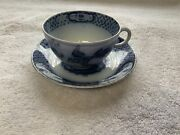 British Anchor Pottery Teacup And Saucer Made In England Birds