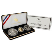 2013 5-star Generals Commemorative Three Coin Gold And Silver Proof Set