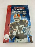2005 Bowman Chrome Factory Sealed Football Hobby Box, Possible Aaron Rodgers Rc