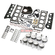 Engine Pistons Gaskets Overhaul Kit For Mercedes-benz W212 W166 E550 M278 4.7 V8