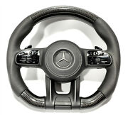 Carbon Steering Wheel For Mercedes Perforated Leather W222 W213 W463a Gt G S