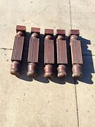 5 Matching Antique Oak 24 Inch Table Legs