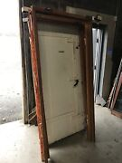 Mar6 Available Sold Separate Antique Fireproof Doors With Jamb 39 X 82 X 5