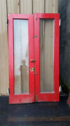48 Full View Beveled Glass Doors Painted