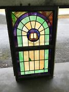 Can 12 Antique Stained Glass Double Hung Window Bible 34.5 X 59.5 By 1.75