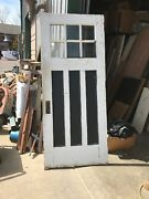 N532 Antique Oak Beveled Glass Entrance Store 35 5/8 By 84painted