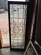 Sg 307 Antique All Beveled Glass Transom Window With 2 Small Cracks