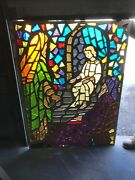 Mc 12 Antique Faceted Stained Glass Window Young Jesus 44 X 59