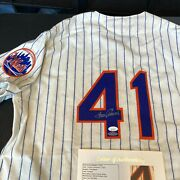 Tom Seaver Signed Authentic 1969 New York Mets Mitchell And Ness Jersey Jsa And Uda