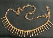 Very Nice 21 Or 22 Karat Gold Beads And 18k Gold Chain India Necklace 19