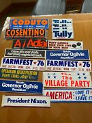 Vintage Illinois And Chicago Political Sticker Collection