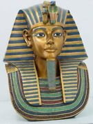 Ptc 18.75 Inch Egyptian King Tut Head And Bust Resin Statue Figurine