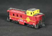 Bachmann Atsf Cupola Caboose With Knuckle Couplers New N Scale