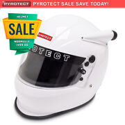 Pyrotect Vortex White Full Face Mid Forced Helmet - Snell Sa2015 Auto Racing