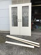 Nate Pair Antique Beveled Leaded Glass French Doors59 1/2 X 82.5