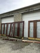 Nate 1pair Available 3 Sold Each Birch Beveled Leaded Glass Doors 59 X 83 X 1.75