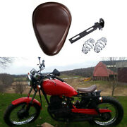 Brown Motorcycle Solo Seat Spring For Harley Davidson Sportster Breakout Iron883