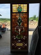 Ca 11 Antique Stain Glass Window 36 X 8and039
