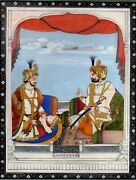 Sikh Art Old Painting Hand-painted Very Fine Miniature Art Original Gold Work