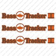 Bass Tracker I Target 1970and039s Boat Decals Set Of 3 16.5 Long