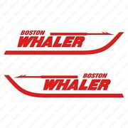 Boston Whaler Boats Logo Decals Stickers Red Set Of 2 12 Long