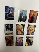 1996 Barb Wire Collecting Cards Lot Of 9 W/ Embossed Card - Pamela Anderson