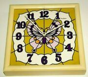 Cool Vintage '70's New Haven Wall Clock Super '70's Butterfly