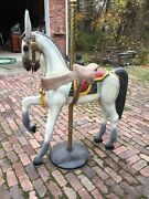 Ca Three Antique Carved Dartanion Would Carousel Horse Parade