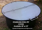 Large Folding 48dia Cover. Stainless Steel Fire Pit Cover Lid