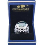 Rare 16 Ct Certified Blue Diamond Menand039s Ring Amazing Shine And Bling Watch Video