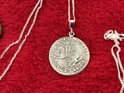 """Sterling Silver Knights Templar Relic Inspired 18"""" Pendant Necklace Knight"""