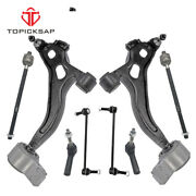 8 Piece Steering And Suspension Kit Control Arms Tie Rods Sway Bar End Links New
