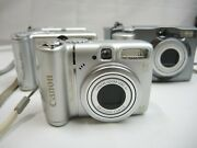 Lot Of 4cannon Powershot A580, A 95, A40 A60 A70 Digital Camera See Notes