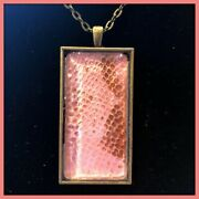 Handmade Real Snake Shed Pendant Necklaces - Multiple Colors Available Active