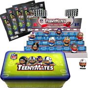 Party Animal Teenymates Collector Tin Set With Nfl Stadium Display Series 4 New