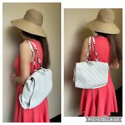 Alice + Olivia By Stacey Leather Backpack White Medium New