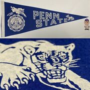 1960and039s Penn State Nittany Lions University St Psu Pennant 12x29 Football Pa