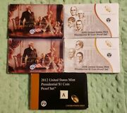 2007 2009 2012 2015 2016 U.s Mint Presidential Dollar Coin Proof Sets 46