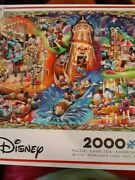 New Disney Jigsaw Puzzle Mickey's Carnival With Scenes From The Park And Rides.