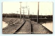 Rppc 1908 Mackinaw Il Junction P.l. And S Division Depot Railroad Train Real Photo