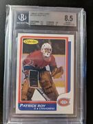 1986-87 O-pee-chee Opc Patrick Roy Rc Rookie Blank Back 53 Bgs 8.5 Pop Only 5