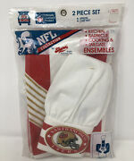 Vintage San Francisco 49ers 80s Apron And Chefs Hat Bbq Tailgate Cook Set 🚚free📦