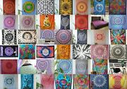 Indian Handmade Mandala Print Twin Size Assorted 500-pc Tapestry Home Room Decor