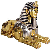 Oversized Egyptian Sphinx Statue 47 Inch H Ancient Decor Collectible Sculpture