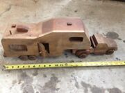 Wooden Truck And Camper Hand Made Toy Wall Art