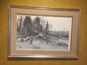 Winter Grouse By Chet Reneson Hunting Print Number 346 Of 400 Decoy